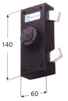 Serratura Mottura per anta e persiana blocco tenaglia apertura interna con pomolo autobloccante - Cor Cat 24