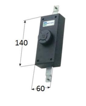 Serratura Mottura per anta verticale apertura interna con pomolo autobloccante - Cor Aste 20