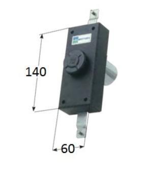 Serratura Mottura a pompa per anta e persiane cilindro antistrappo apertura interna con pomolo - Corsa Aste 20