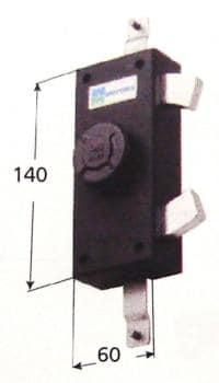 Serratura Mottura per ante e persiane triplice blocco tenaglia apertura interna con pomolo autobloccante - Cor Cat 24