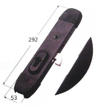 Ferroglietto Mottura applicare triplice a cilindro chiavistello a gancio reversibile apertura con quadro maniglia e blocco con cilindro
