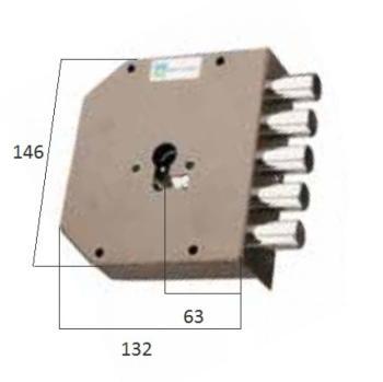 Serratura Mottura a cilindro applicare laterale fissaggio del cilindro senza vite in testa - Mano destra