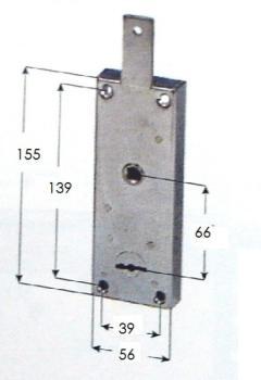 Serratura Potent per basculanti cilindro tondo - Sporg cilindro 7