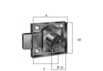 Serratura da applicare per anta con entrata 20 mm anta destra