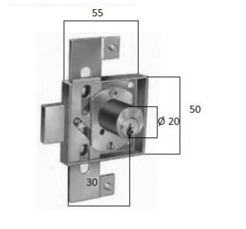 Serratura da applicare a triplice espansione per anta a battente art 4551