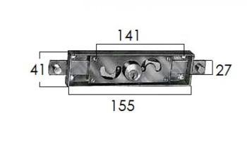 Serratura Prefer per serrandine e tapparelle avvolgibili - Diametro cilindro 25 mm