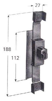 Serratura Prefer per cancelli estensibili - Cilindro 6818