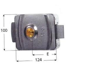 Elettroserratura Viro V9083 12V c.a. catenaccio rotante doppio cilindro tondo fisso
