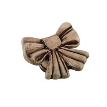 Pomello per mobile a forma di Fiocco in Ceramica colore Patinata 45 x 45mm