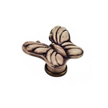 Pomello per mobile a forma di Farfalla in Ceramica colore Patinato 45 x 50 mm