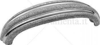 Maniglia interasse 128mm Moonlight silver 100%  Argento
