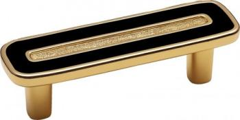 Maniglia per mobile  Interasse 96 Imperial gold 24Kt