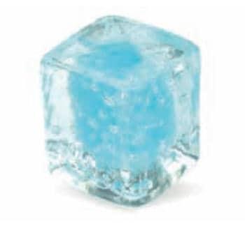 Pomolo in vetro per mobile Cubo 25mm azzurro pulegoso
