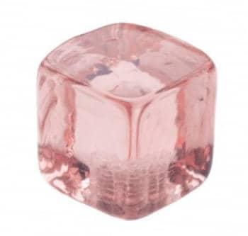 Pomolo in vetro per mobile Cubo 25mm  Rosa