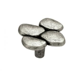 Pomolo per mobile serie Stone 49mm Argento Vecchio