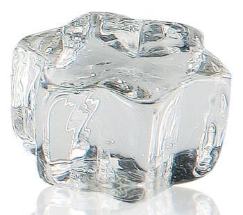 Pomolo in vetro per mobile Stella 32mm trasparente