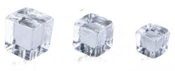 Pomolo in vetro per mobile Cubo  20mm Trasparente
