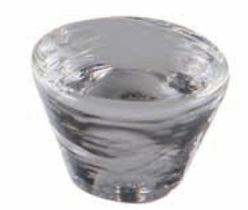 Pomolo in vetro di Murano per mobile Tronco 35mm Trasparente