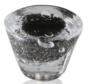 Pomolo in vetro di Murano per mobile Tronco 35mm Nero