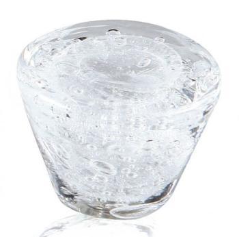 Pomolo in vetro di Murano per mobile Tronco 35 mm Trasparente pulegoso