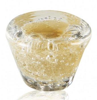 Pomolo in vetro di Murano per mobile Tronco 35 mm Ambra pulegoso