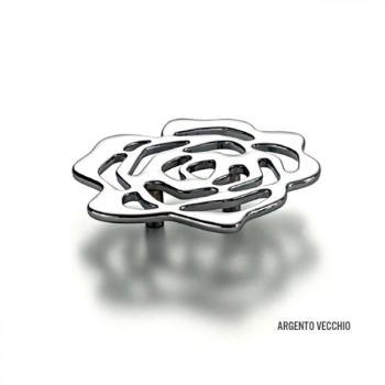 Maniglia per mobile serie Floris Le Fabric interasse 32 mm Argento Vecchio