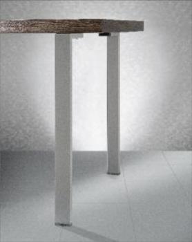 Gamba per tavoli base quadrata 71 mm Acciaio