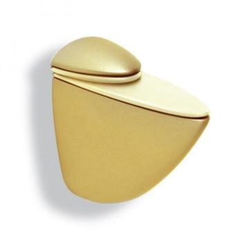 Reggimensola a PELLICANO Regolabile Mital A mm 106 Per mensole in cristallo e legno Oro Lucido