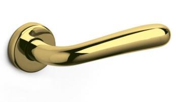 Olivari serie Bond maniglia per porta interna rosetta bocchetta foro per cilindro Ottone Lucido
