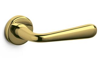 Olivari serie Golia maniglia per porta interna rosetta bocchetta foro per cilindro Ottone Lucido