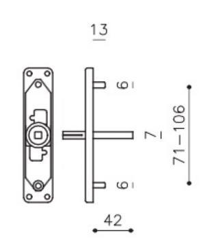 Olivari serie accessorio ricambio movimento m p +.  - destro