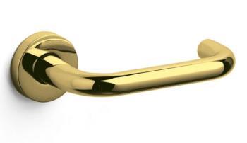 Olivari serie Chiara maniglia per porta interna rosetta bocchetta foro normale Ottone Super Oro Lucido