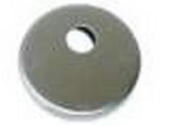 Bocchetta tonda con foro perno per cilindri con codolo cromo satinato