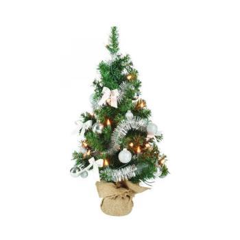 Albero di Natale 60 cm Verde Argento