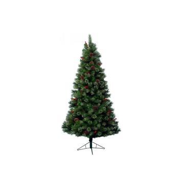 Albero di Natale Pino Glennmore 150 cm Verde e Bianco
