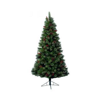 Albero di Natale Pino Glennmore 180 cm Verde e Bianco