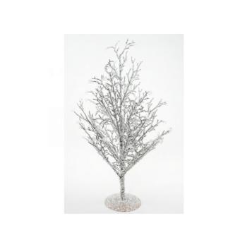Albero di Natale effetto Ghiaccio altezza 90 cm