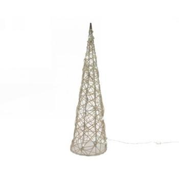 Natale Albero a piramide in Vimini altezza 90 cm LED 48 L