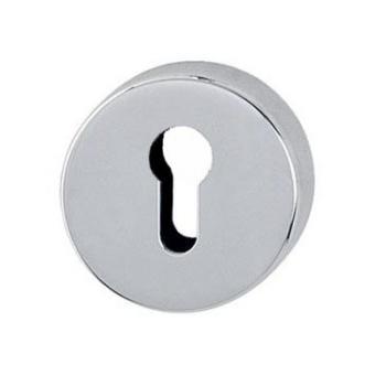 Bocchetta per Porta rotonda foro per cilindro Cromo lucido