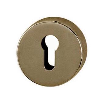 Bocchetta per Porta rotonda foro per cilindro Bronzata