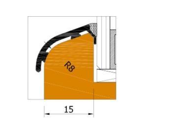 Profilo AL223 S  bronzo scuro