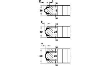 Guarnizione Hawa per porte scorrevoli marrone rotolo da 10 metri