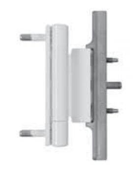 SFS Intec Dynamic 3D cerniere universale per cava euro a 13 mm Plastificato bianco