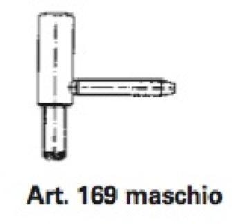 Cerniere per porte e finestre in PVC art. 169 Ø 15 maschio Avorio RAL9001