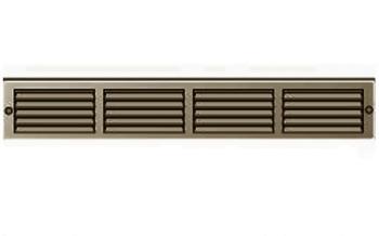Griglia Aerazione rettangolare in metallo Edilplast griglia 400 x 60 marrone con Rete da Sovrapporre