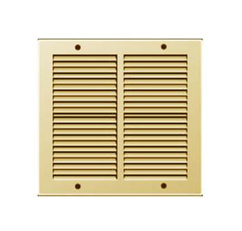 Griglie Aerazione quadrata Metallo Edilplast griglia 240 x 240 Ottone con Rete da Sovrapporre
