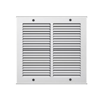 Griglie Aerazione quadrata in Metallo Edilplast griglia 240 x 240 Bianco con Rete da Sovrapporre