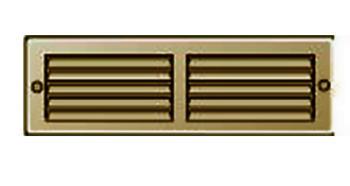 Griglia Areazione rettangolare Edilplast griglia 200 x 60 Marrone con Rete da Sovrapporre