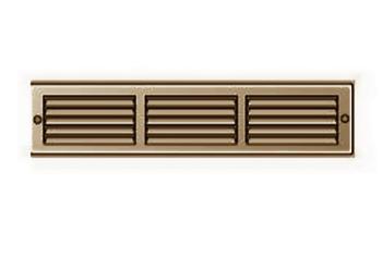 Griglia Aerazione rettangolare Edilplast griglia in metallo 300 x 60 Marrone con Rete