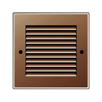 Griglia Areazione quadrata Edilplast griglia in metallo 140 x 140 marrone con Rete da Sovrapporre